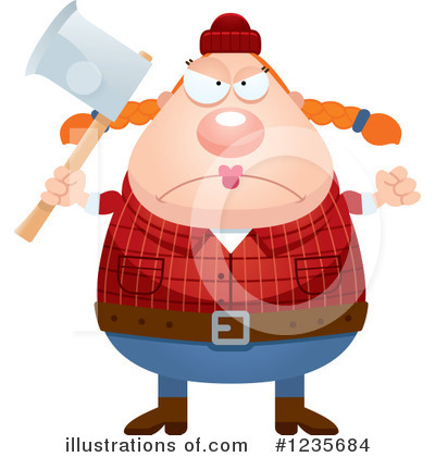 Lumberjack Clipart #1235684 by Cory Thoman