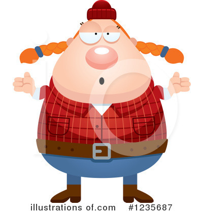Lumberjack Clipart #1235687 by Cory Thoman