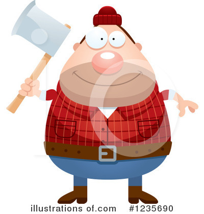 Lumberjack Clipart #1235690 by Cory Thoman