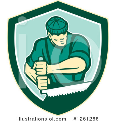 Royalty-Free (RF) Lumberjack Clipart Illustration by patrimonio - Stock Sample #1261286