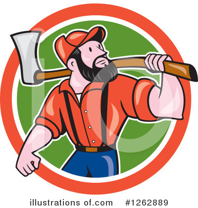 Royalty-Free (RF) Lumberjack Clipart Illustration by patrimonio - Stock Sample #1262889