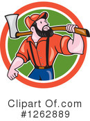 Royalty-Free (RF) Lumberjack Clipart Illustration #1262889
