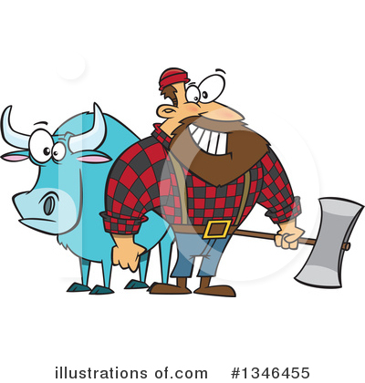 Lumberjack Clipart #1346455 by toonaday