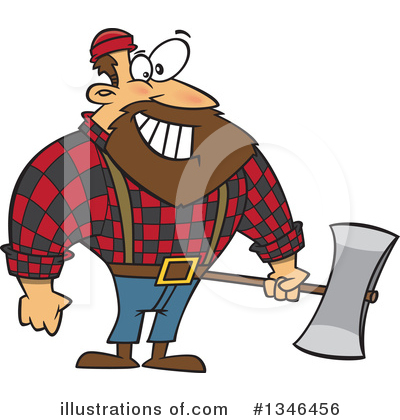 Lumberjack Clipart #1346456 by toonaday