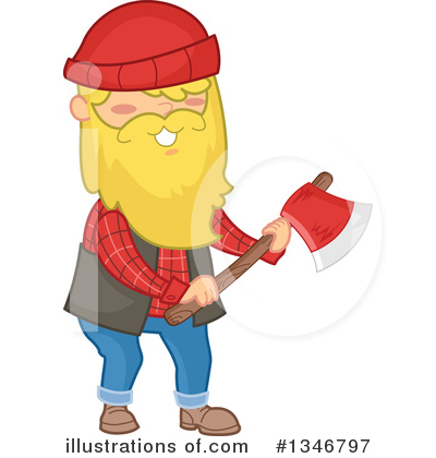 Lumberjack Clipart #1346797 by BNP Design Studio
