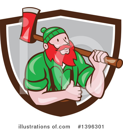 Royalty-Free (RF) Lumberjack Clipart Illustration by patrimonio - Stock Sample #1396301