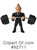 Macho Businessman Clipart #92711