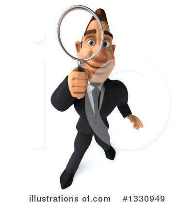 Macho White Businessman Clipart #1330949 by Julos