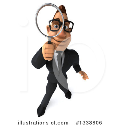 Macho White Businessman Clipart #1333806 by Julos