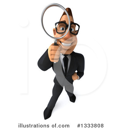 Macho White Businessman Clipart #1333808 by Julos