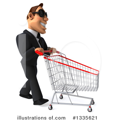 Macho White Businessman Clipart #1335621 by Julos