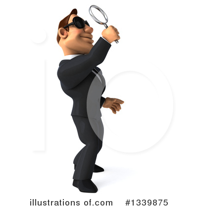 Macho White Businessman Clipart #1339875 by Julos