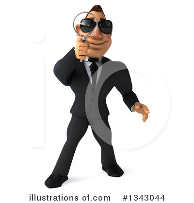 Macho White Businessman Clipart #1343044 by Julos