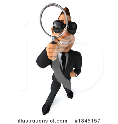 Royalty-Free (RF) Macho White Businessman Clipart Illustration by Julos - Stock Sample #1345157