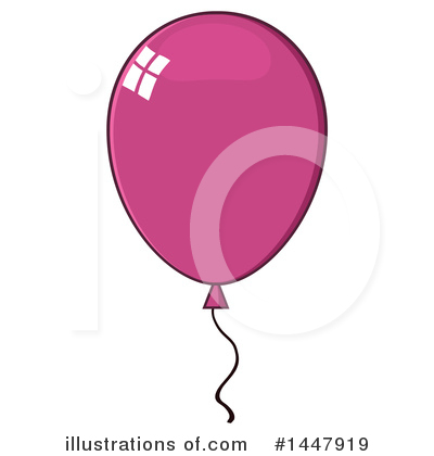 Balloons Clipart #1447919 by Hit Toon