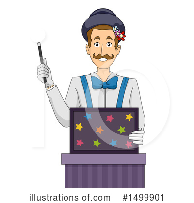 Magician Clipart #1499901 by BNP Design Studio
