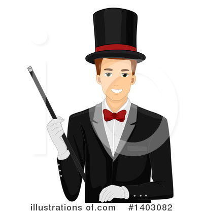 Magician Clipart #1403082 by BNP Design Studio