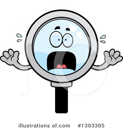 Magnifying Glass Character Clipart #1303305 by Cory Thoman