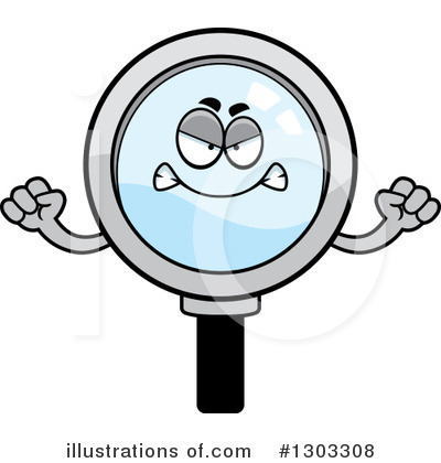 Magnifying Glass Character Clipart #1303308 by Cory Thoman