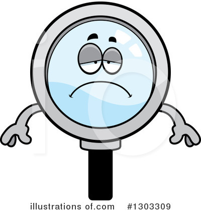 Magnifying Glass Character Clipart #1303309 by Cory Thoman