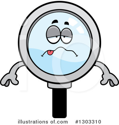 Magnifying Glass Character Clipart #1303310 by Cory Thoman