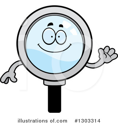 Magnifying Glass Character Clipart #1303314 by Cory Thoman