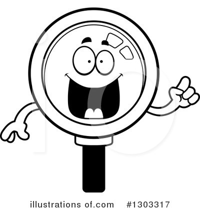 Magnifying Glass Character Clipart #1303317 by Cory Thoman