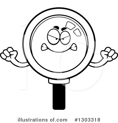 Magnifying Glass Character Clipart #1303318 by Cory Thoman