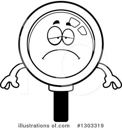 Magnifying Glass Character Clipart #1303319 by Cory Thoman