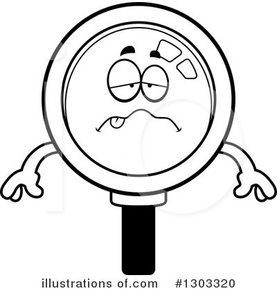 Magnifying Glass Character Clipart #1303320 by Cory Thoman