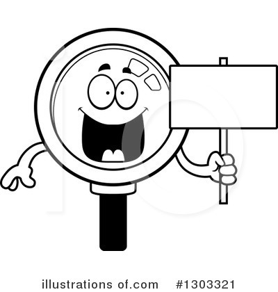 Magnifying Glass Character Clipart #1303321 by Cory Thoman