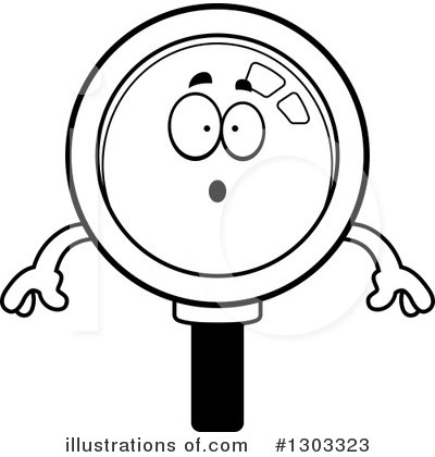 Magnifying Glass Character Clipart #1303323 by Cory Thoman