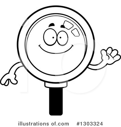 Magnifying Glass Character Clipart #1303324 by Cory Thoman