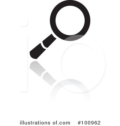 Royalty-Free (RF) Magnifying Glass Clipart Illustration by cidepix - Stock Sample #100962