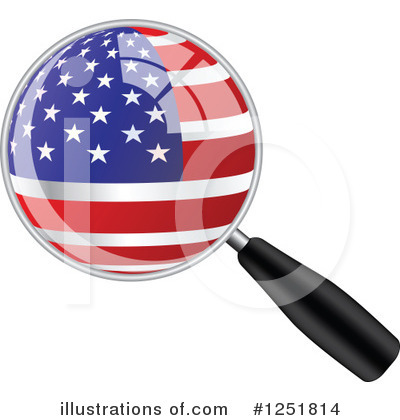 Royalty-Free (RF) Magnifying Glass Clipart Illustration by Andrei Marincas - Stock Sample #1251814