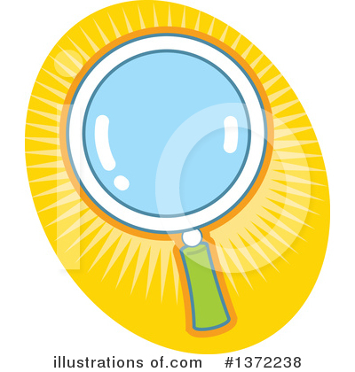 Magnifying Glass Clipart #1372238 by Clip Art Mascots