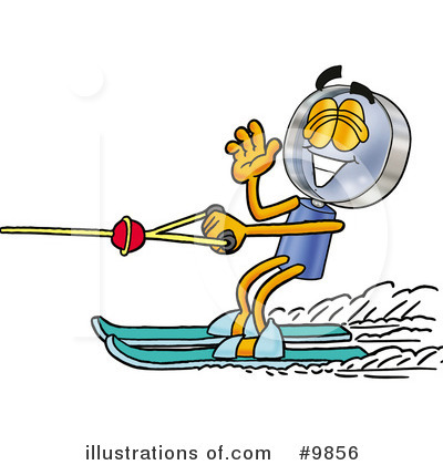Waterskiing Clipart #9856 by Toons4Biz
