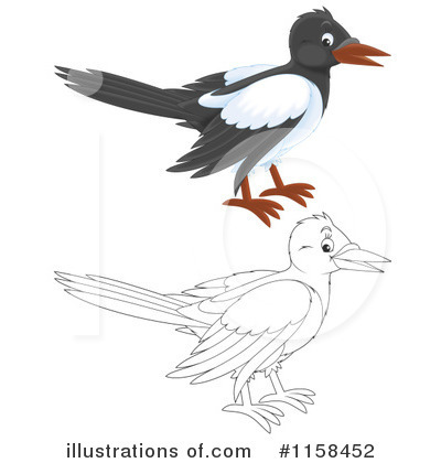 Magpie Clipart #1158452 by Alex Bannykh