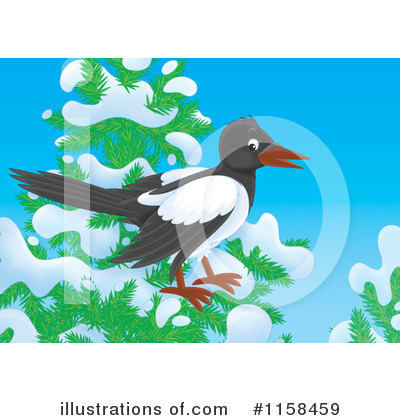 Magpie Clipart #1158459 by Alex Bannykh