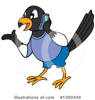 Magpie Clipart #1300349 by LaffToon