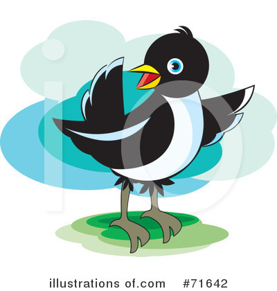 Royalty-Free (RF) Magpie Clipart Illustration by Lal Perera - Stock Sample #71642
