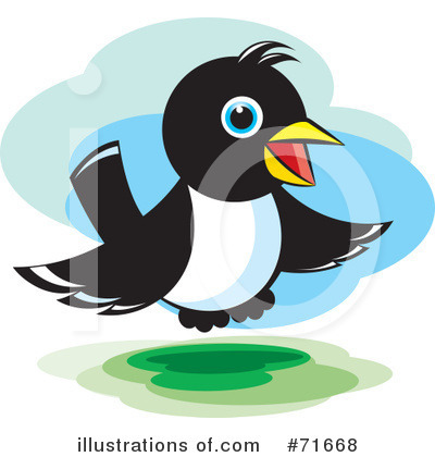Royalty-Free (RF) Magpie Clipart Illustration by Lal Perera - Stock Sample #71668