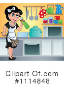 Royalty-Free (RF) Maid Clipart Illustration #1114848