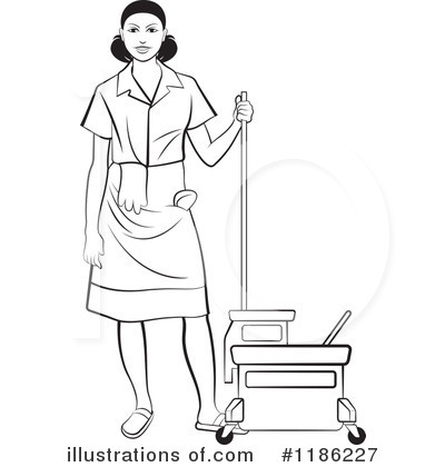 Mopping Clipart #1186227 by Lal Perera