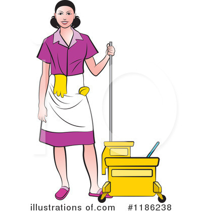 Maid Clipart #1186238 by Lal Perera