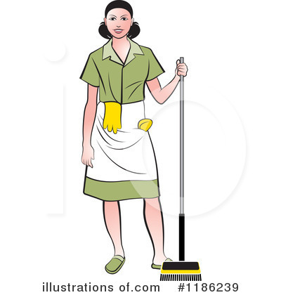 Maid Clipart #1186239 by Lal Perera