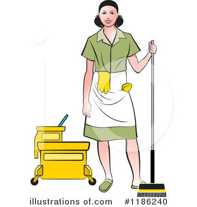 Maid Clipart #1186240 by Lal Perera
