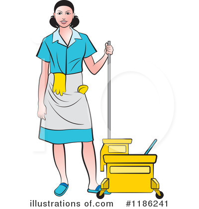 Mopping Clipart #1186241 by Lal Perera