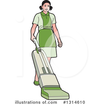 Royalty-Free (RF) Maid Clipart Illustration by Lal Perera - Stock Sample #1314610