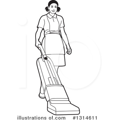 Maid Clipart #1314611 by Lal Perera